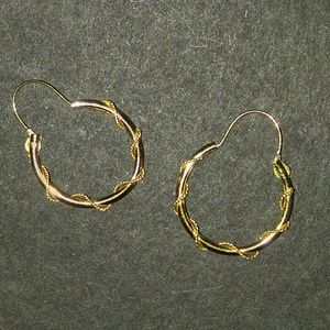 Gold Small Delicate Hoops